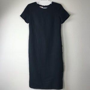3/25 🛍Talbots Black Irish linen maxi dress Sz 16